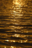 Sunset Water Reflection Stock Photography