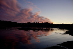 Sunset by water Royalty Free Stock Photo