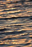 Sunset on the water. Photo of abstract background Royalty Free Stock Photos