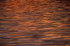 Sunset Water Texture Stock Image