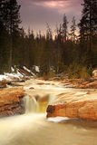 Sunset waterfall in the Uinta Mountains Royalty Free Stock Images