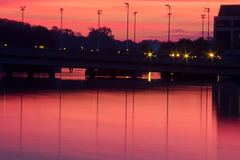 Sunset on the waterfront. Annapolis, Maryland Royalty Free Stock Image
