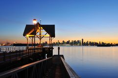 Sunset at waterfront park in north vancouver Stock Photos