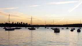 Sunset at Watsons Bay, Sydney, Australia Royalty Free Stock Images