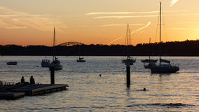 Sunset at Watsons Bay, Sydney, Australia Stock Photography