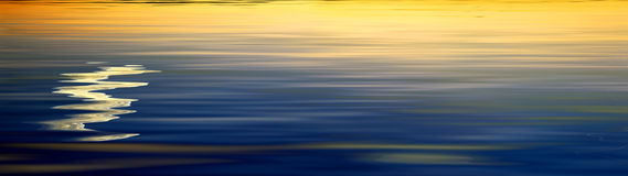 Sunset wave Royalty Free Stock Image