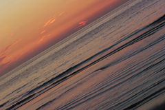 Sunset waves Royalty Free Stock Images