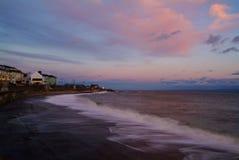 Sunset waves Stock Image