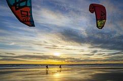 Sunset waves Stock Photo