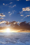 Sunset  waves  water  sea Stock Photography