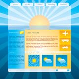 Sunset website template Stock Photos