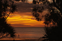 Sunset at Weipa Royalty Free Stock Photo