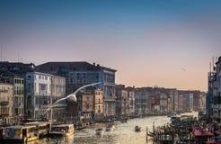 sunset Wenecji obraz royalty free