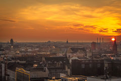 Sunset in West Berlin. Royalty Free Stock Photography