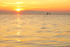 Sunset at West Kirby stock image