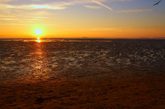 Sunset at West Kirby. West Kirby, The Wirral, Merseyside, England, UK at sunset Royalty Free Stock Image
