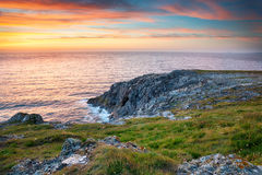 Sunset at West Pentire Stock Image