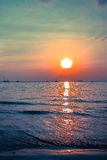 Sunset. At the west Railay Beach in Thailand Royalty Free Stock Photography