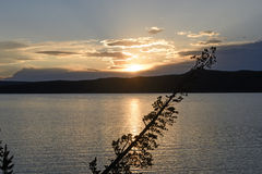 Sunset on a Western Lake Royalty Free Stock Photography