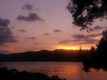 Sunset in westlake, Hangzhou, China, summer Stock Images