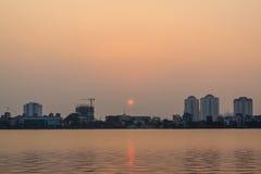 Sunset on westlake Stock Photo