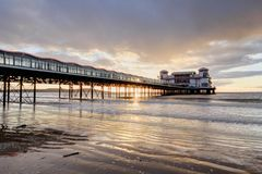 Sunset at Weston Super mare Royalty Free Stock Image