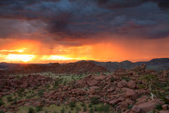 Sunset in the wet season, Damaraland Royalty Free Stock Photo
