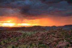 Sunset in the wet season, Damaraland Royalty Free Stock Photo