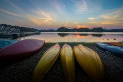Sunset at the Wetland Putrajaya Malaysia Stock Photography