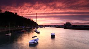 Sunset Weymouth Harbour England Royalty Free Stock Photo