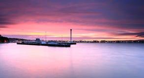 Sunset Weymouth seafront England Stock Photography