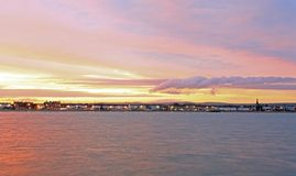 Sunset Weymouth seafront England Stock Photos