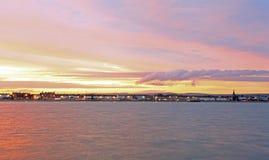 Sunset Weymouth seafront England Stock Photos