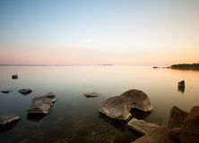Sunset whit Balaton Royalty Free Stock Images