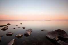 Sunset whit Balaton Stock Photos