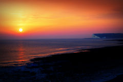 Sunset White Cliffs england Stock Photography