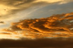 Sunset White Cloud sky at high level attitude, view from window Stock Images