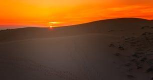 Sunset in White Sand Dunes, Mui Ne, Vietnam Stock Photo