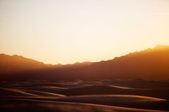 Sunset at White Sands National Monument Royalty Free Stock Images