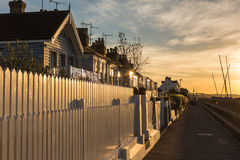 Sunset in Whitstable Stock Photography