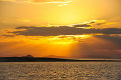 The Sunset in the Whitsundays. Queensland, Australia Royalty Free Stock Photo