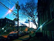 sunset wiatr pozyskiwania burzy zdjęcie royalty free