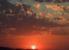 sunset wiatr pozyskiwania burzy Zdjęcie Stock