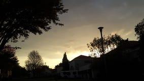 sunset wiatr pozyskiwania burzy Fotografia Stock