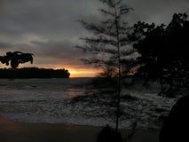 sunset wiatr pozyskiwania burzy Obrazy Royalty Free