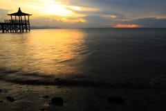 sunset wiatr pozyskiwania burzy Zdjęcia Stock