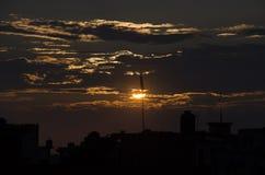 sunset wiatr pozyskiwania burzy obraz stock