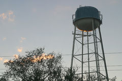 sunset wieży wody Obrazy Stock