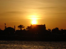 Sunset in Willemstad, Curacao Stock Photography