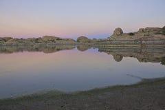 Sunset at Willow Lake stock photos